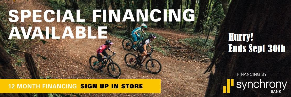 Financing Available at Cal Coast Bicycles