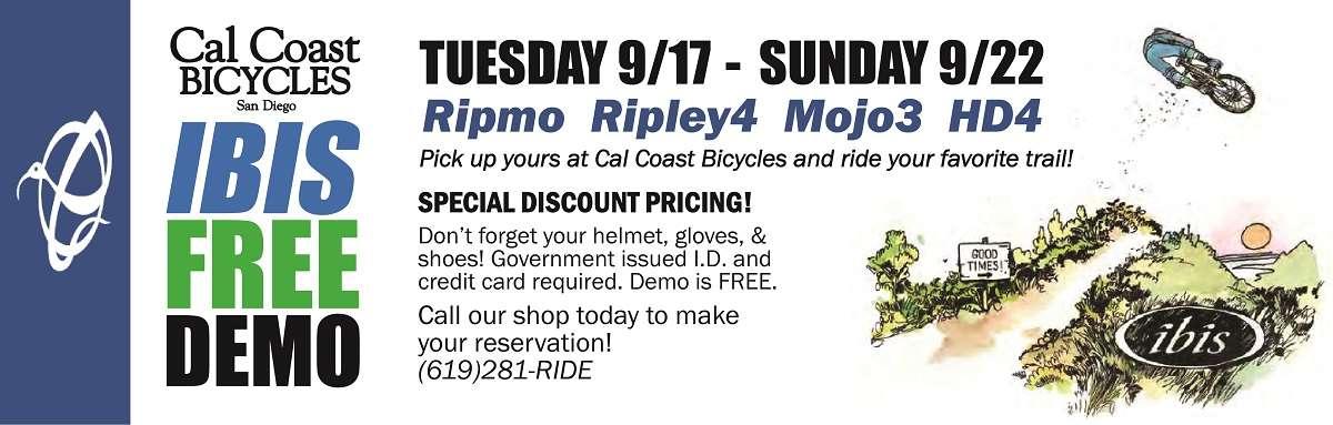 Free Ibis Demo at Cal Coast Bicycles