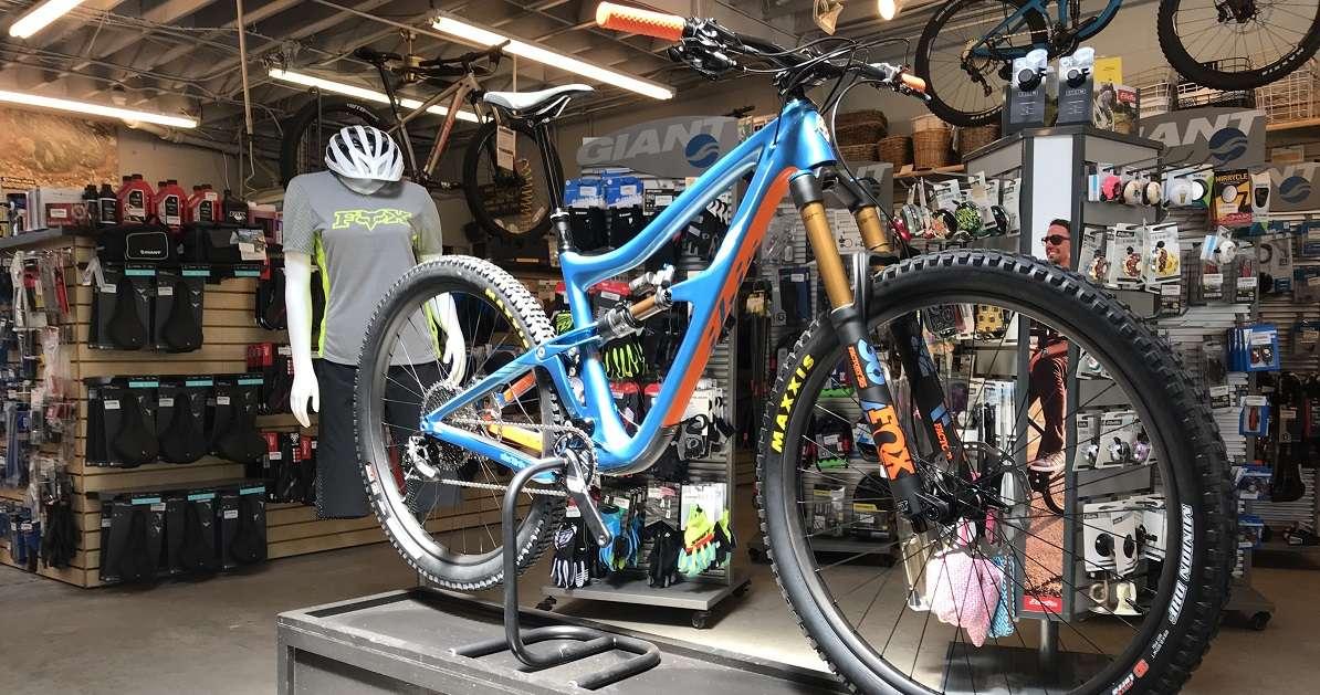 Ibis bike displayed in showroom