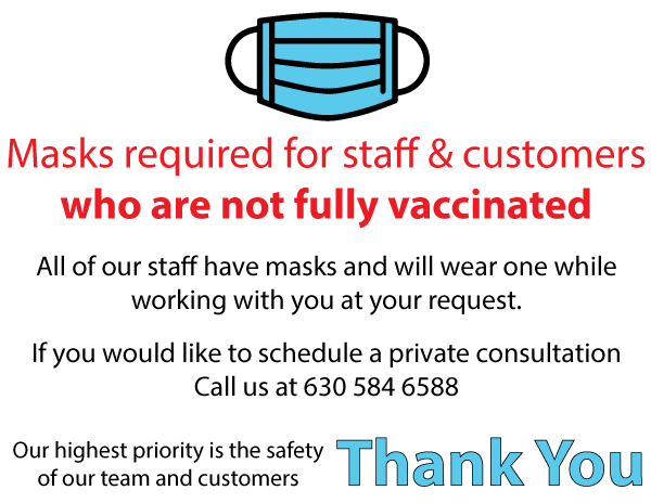 Masks not required for fully vaccinated guests