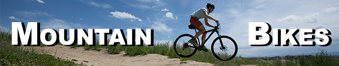 Conquer the trails on a mountian bike from Bicycle Center!