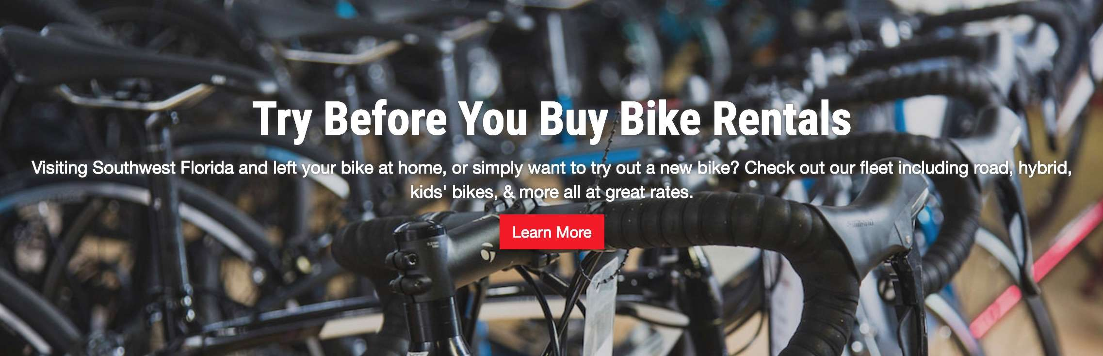 Try Before You Buy! Bike Rentals