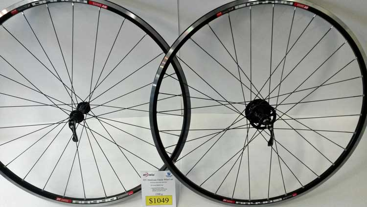 Custom built bike wheels