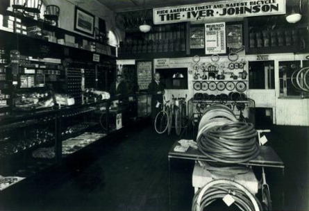 Inside the first shop