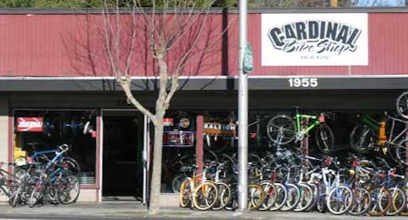 Cardinal Vintage Bike Shop, your source for all things cycling in Palo Alto