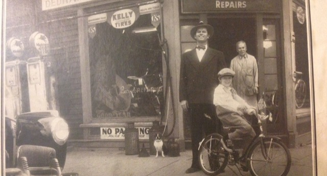 """picture of old dedham bike storefront"""