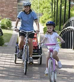 Teaching the kids to ride their bike