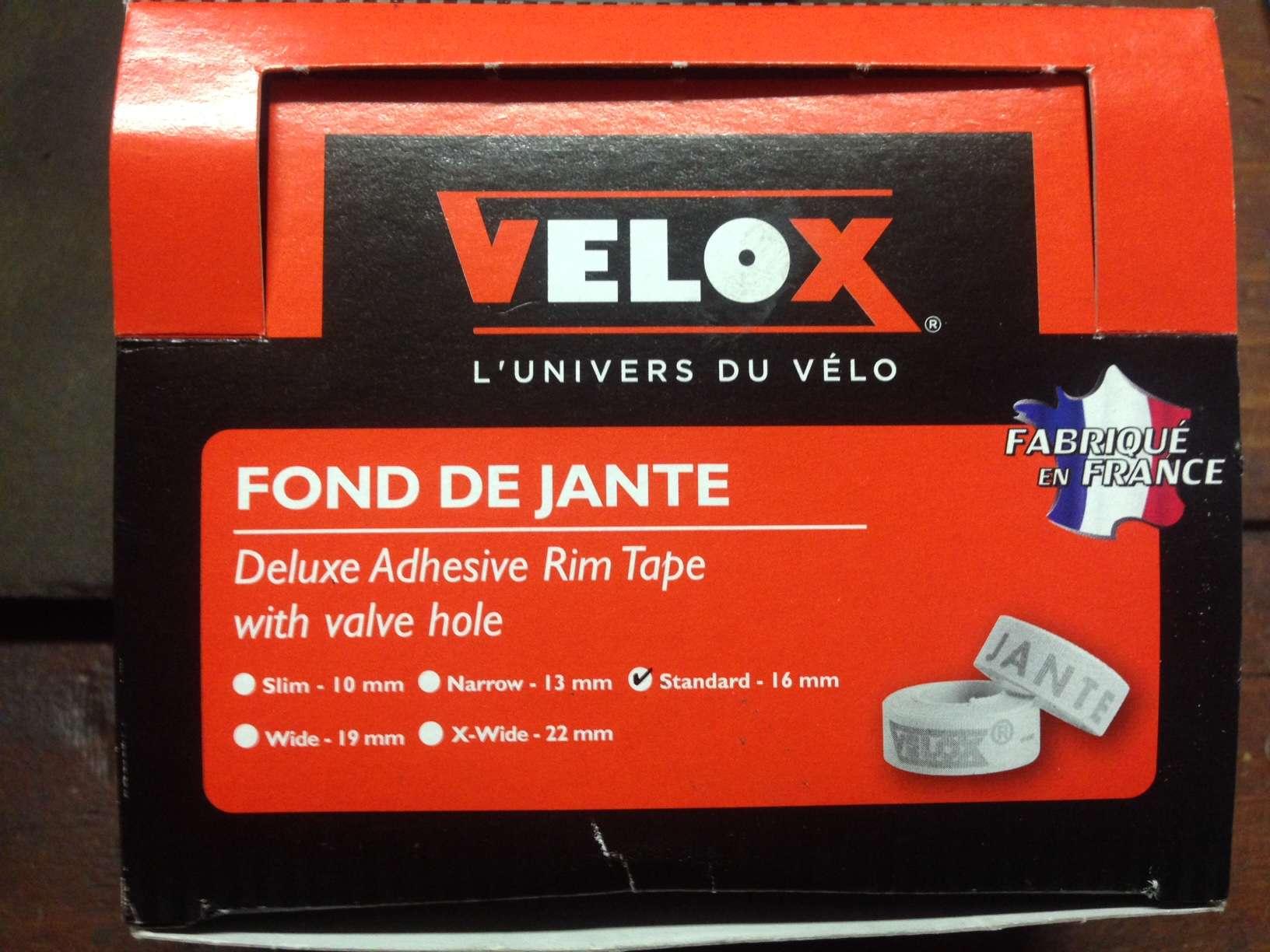 """Velox Rim Tape box"""