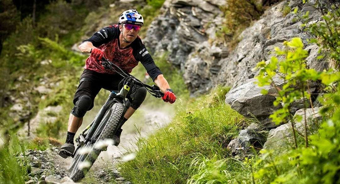 mountain biker riding single track