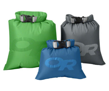 outdoor research multicolored dry bags
