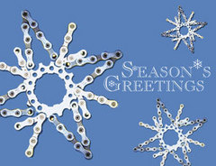 Scheller's Bike Chain Snowflake Holiday Card