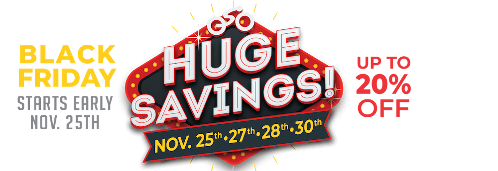 Huge Black Friday weekend savings