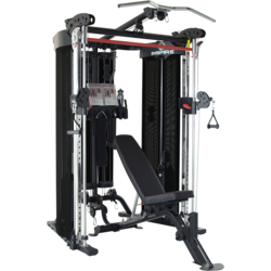 Inspire Fitness FT2 Functional Trainer Package Includes Bench, Leg Extension and Connecting Hardware