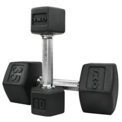TKO Fitness 10# HEX TRI GRIP RUBBER - PAIR