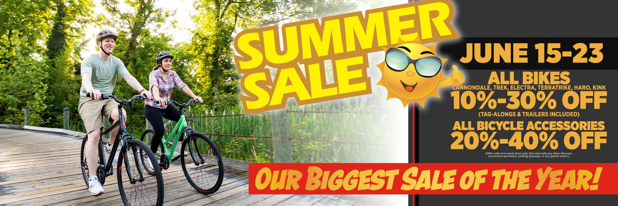 Sunny Summertime Savings!