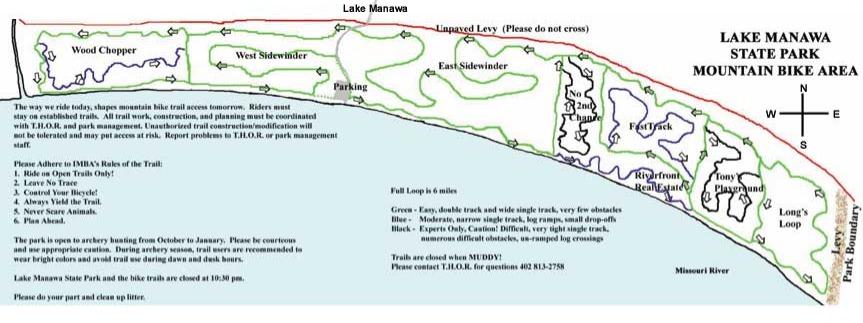 Lake Manawa Bike Map