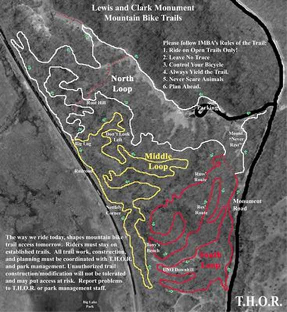 Lewis and Clark Monument Mountain Bike Trails