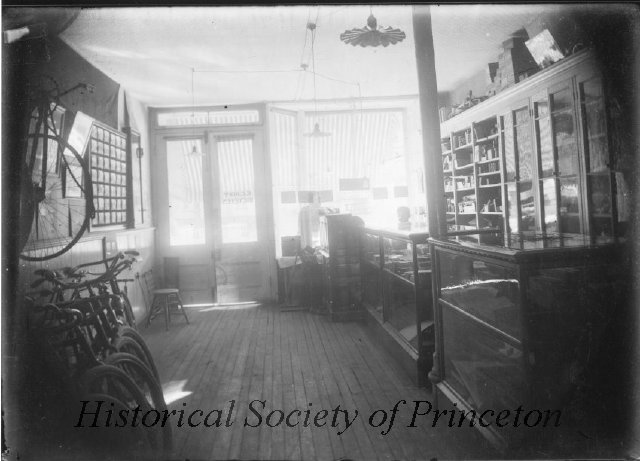 Old photo of inside shop