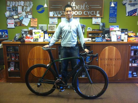 Harold C and his new Specialized Venge.