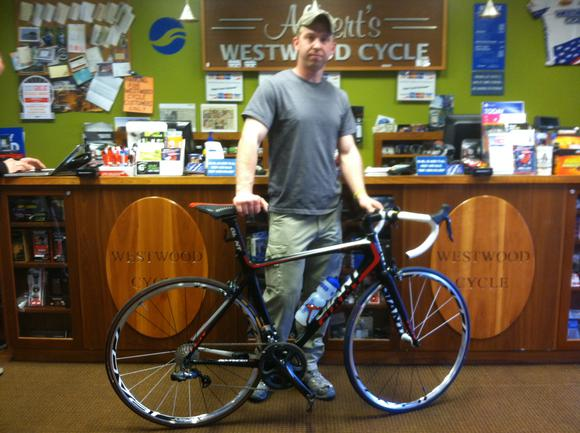 Brendan and his new Giant TCR SL!