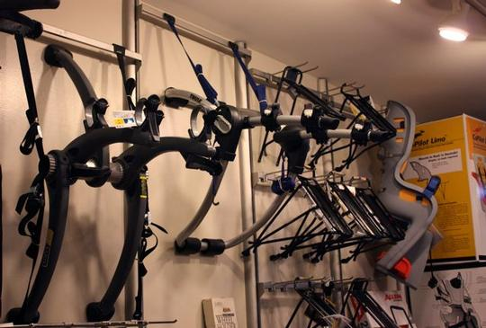 Westwood Cycle car mounted bike racks from Saris and Thule.