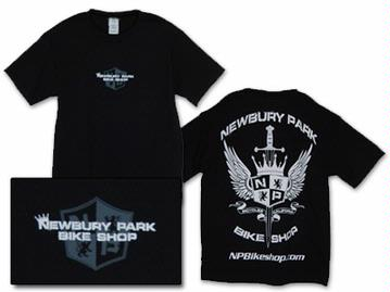 "NPBS Newbury Park Bike Shop ""Wings"" Logo Tees"