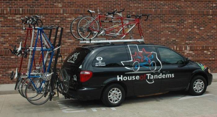 Car racks for tandem bikes