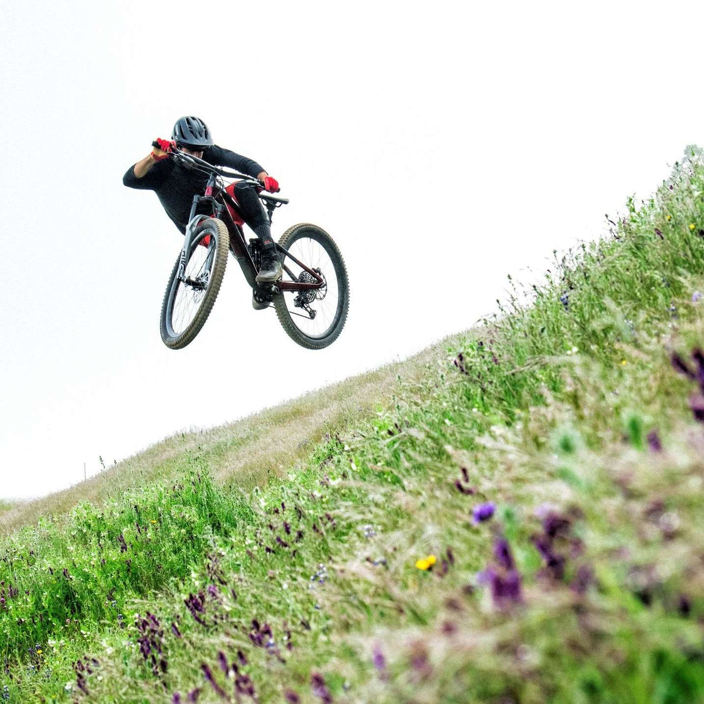 Generic picture of a mountain bike jumping