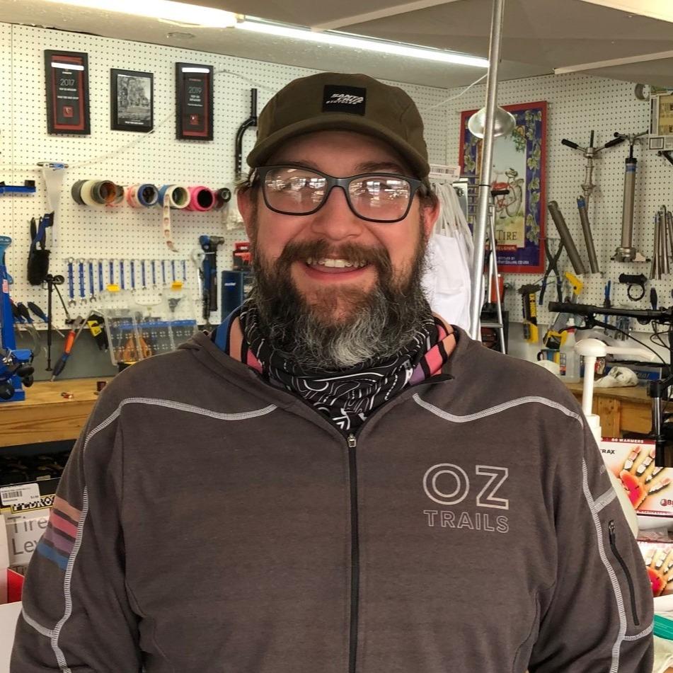 Curtis at his shop