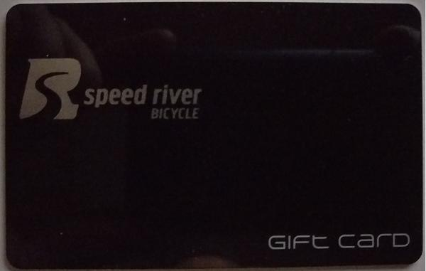 Speed River Bicycle Gift Card