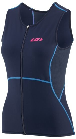Louis Garneau Tri Comp Sleeveless Triathlon Top - Women's Color: Navy/Blue/Pink