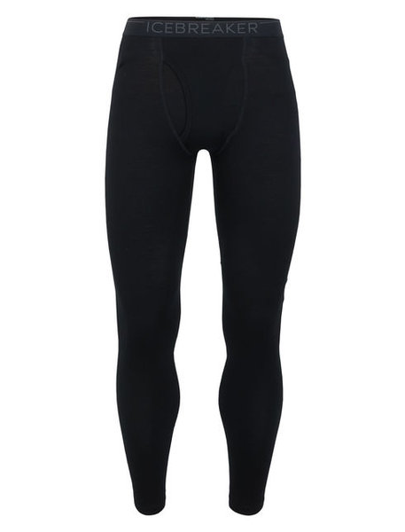 Icebreaker 260 Tech Leggings with Fly Color: Black/Monsoon