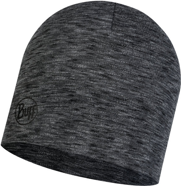 Buff Hat midweight Merino Wool Color: Graphite Multi Stripes