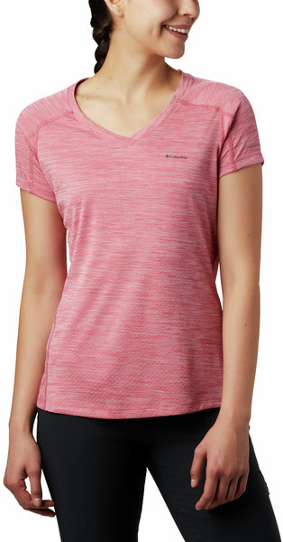 Columbia Zero Rules Short Sleeve Shirt - Women's Color: Rouge Pink Heather