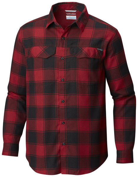 Columbia Silver Ridge Flannel Long Sleeve Shirt Color: Red Element Bufffalo Plaid