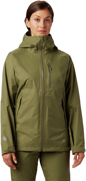 Mountain Hardwear Exposure/2 Gore-Tex Paclite Jacket - Women's Color: Light Army
