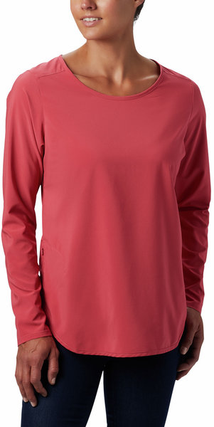 Columbia Place To Place Long Sleeve Sun Shirt - Women's Color: Rouge Pink