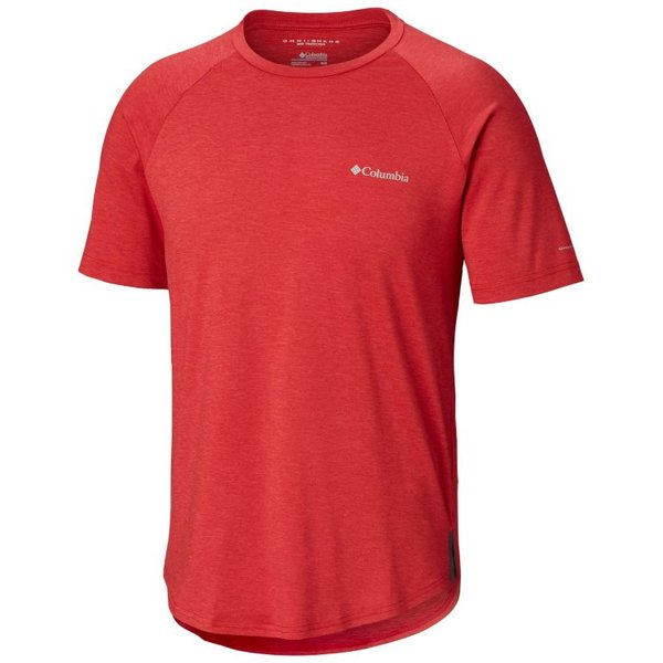 Columbia Tech Trail II Short Sleeve Crew Shirt - Men's Color: Mountain Red