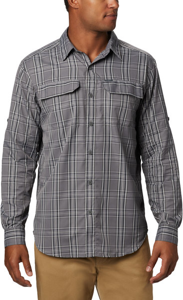 Columbia Silver Ridge 2.0 Plaid Long Sleeve Shirt - Men's Color: City Grey Plaid