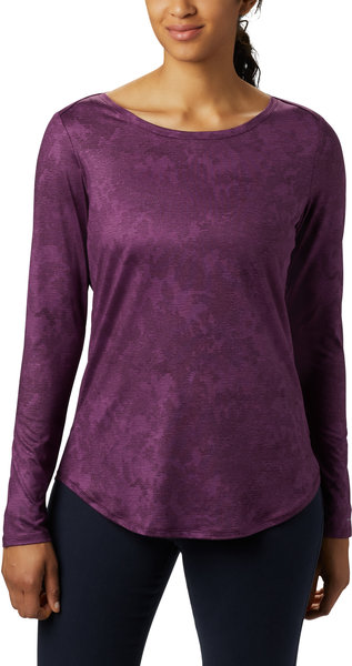 Columbia Place to Place II Long Sleeve Shirt - Women's Color: Black Cherry