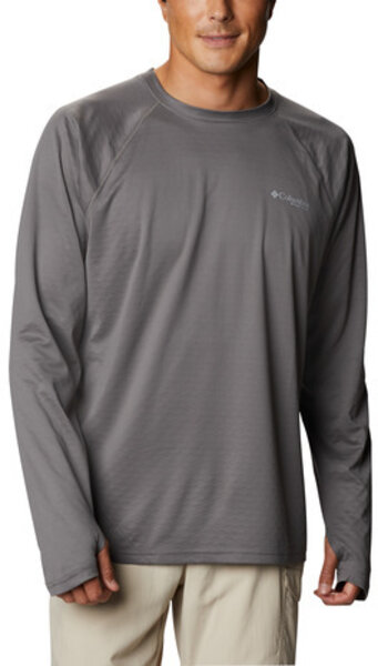 Columbia PFG ZERO Rules Ice LS Shirt Color: City Grey