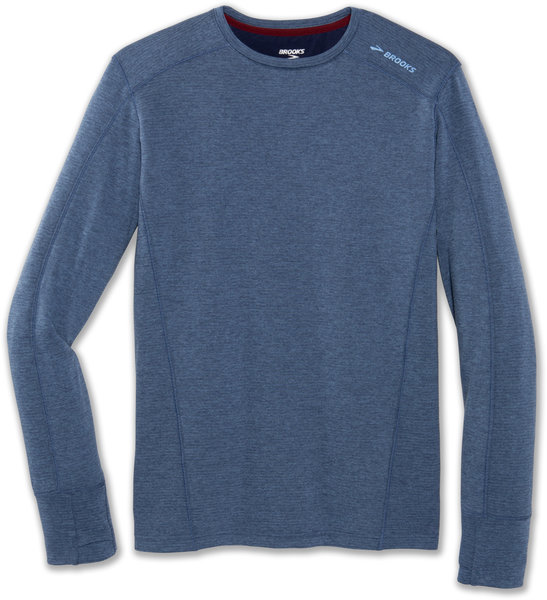 Brooks Notch Thermal Long Sleeve - Men's Color: Heather Indigo
