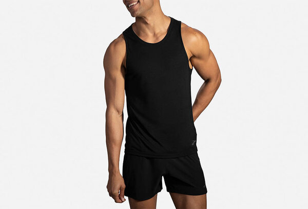 Brooks Distance Tank - Men's Color: Black