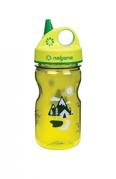 Nalgene Tritan Grip N Gulp Color: Green w/ Trail