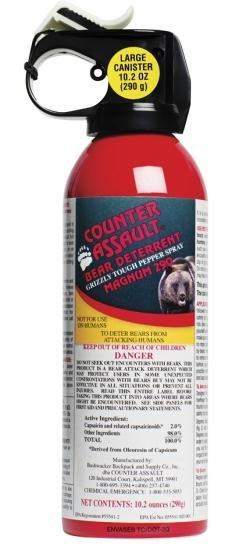 Counter Assault Bear Spray - 290g / 10.2 oz Bear Deterrent