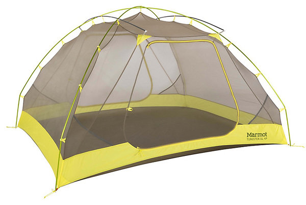 Marmot Tungsten UL 4P Color: Dark Citron/Citronelle