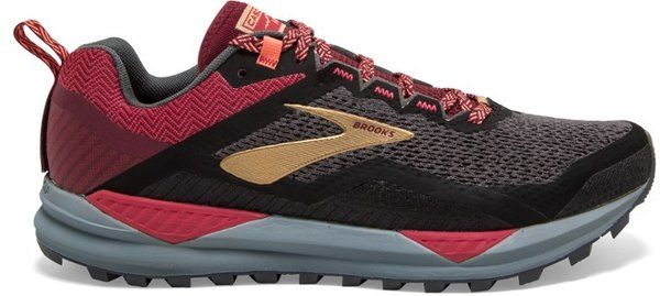 Brooks Cascadia 14 - Women's Color: Black/Red/Coral