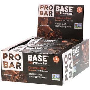 ProBar Base Protein Bar - Chocolate Bliss (2.46oz) - Box of 12