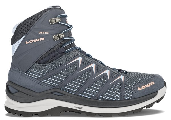 Lowa Innox Pro GTX Mid - Women's Color: Steel Blue/Salmon