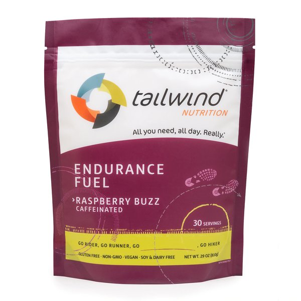 Tailwind Caffeinated Endurance Fuel - Raspberry Buzz - 30 Servings (810g)